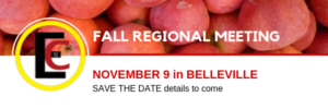 Save the date for the fall regional meeting in Belleville on November 9