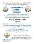 Caribbean mass poster