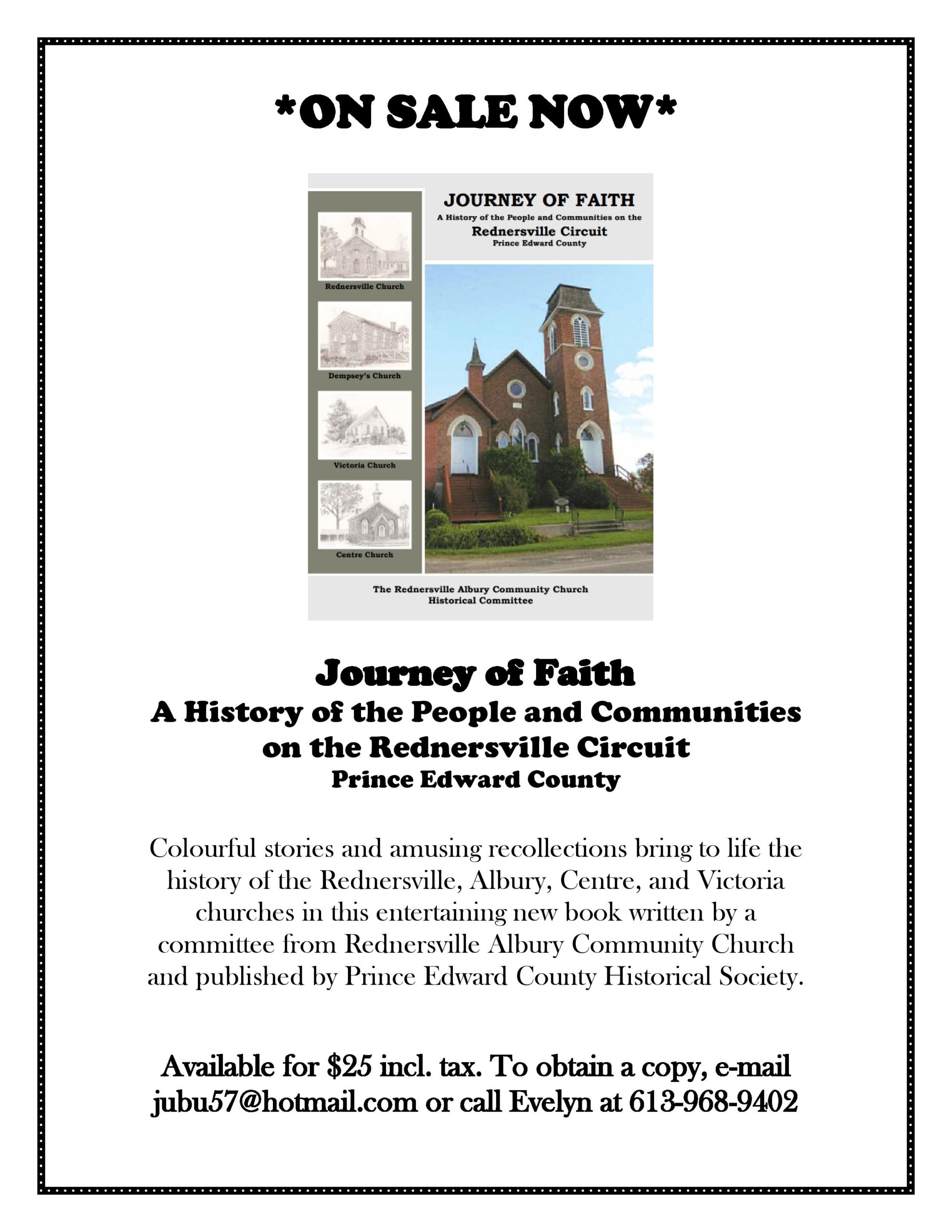 Poster advertising Journey of Faith / Rednersville Circuit